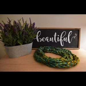 Accessories - Hand knitted unique infinity scarf